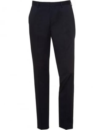 Formal 'Genesis 2' Navy Cotton Slim Fit Trousers
