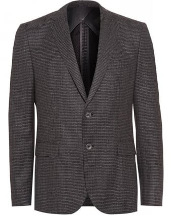 Formal 'Nobis' Grey Check Slim Fit Jacket