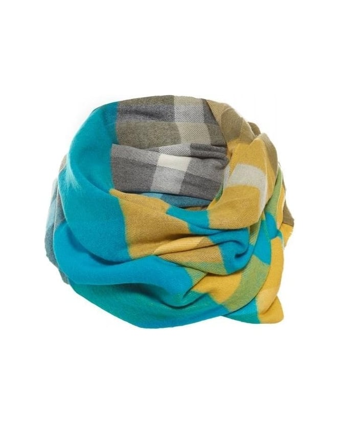 FRAAS Scarf Blue Lime Infinity Check Snood