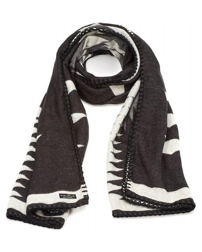 FRAAS Scarves Grey Black Navaho Blanket Scarf