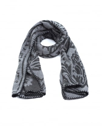 Womens Stole Paisley Print Grey Blanket Scarf