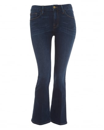 Womens Le Crop Mini Boot Jean, Cropped Mid Wash Denim