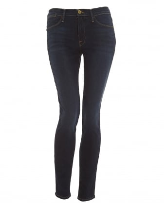 Womens Le High Skinny Jeans, Edgewear Dark Wash Denim