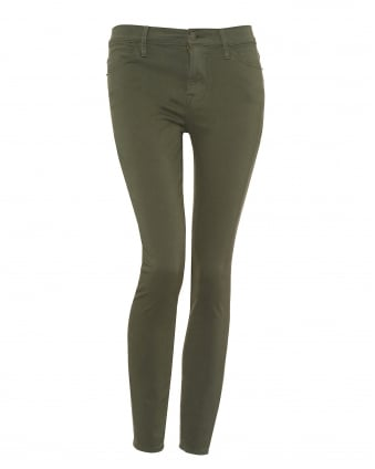 Womens Le High Skinny Jeans, High Rise Platoon Green Jeans