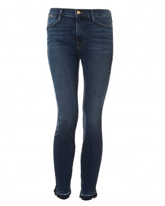 Womens Le High Skinny Jeans, Released Hem Denim