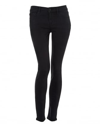 Womens Le Skinny de Jeanne Jeans, Charcoal Whittier Denim
