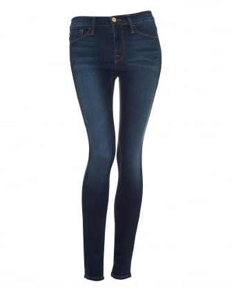 Womens Le Skinny Jeans, Mid Rise Colombia Road Blue Denim