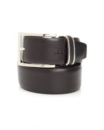 Froppin Mens Belt Black Leather Business Belt