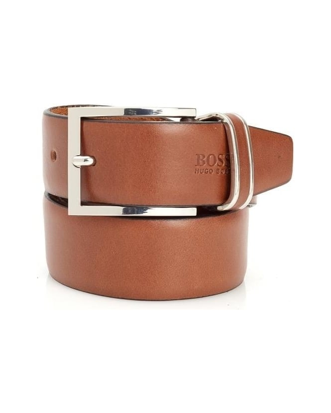 Hugo Boss Black Froppin Mens Belt Tan Leather Business Belt