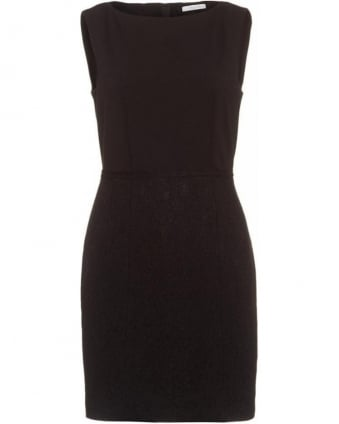 Glauco Black Sleeveless Lace Dress