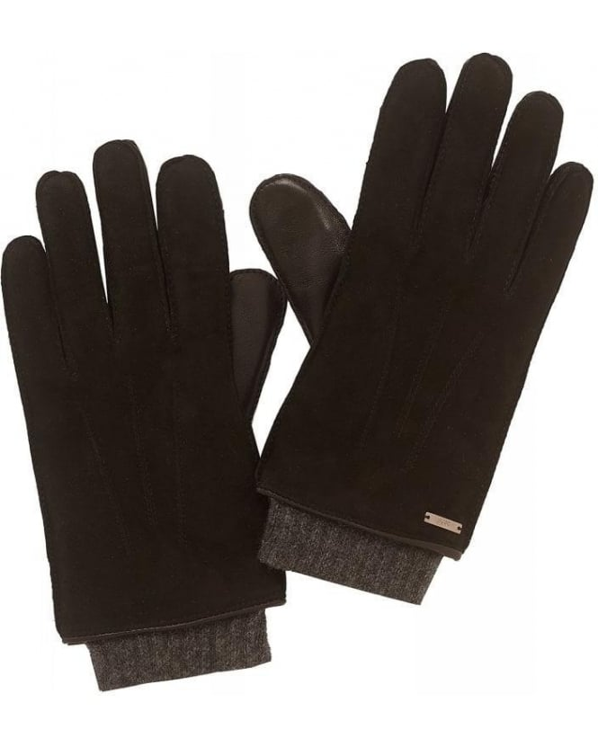 Hugo Boss - Hugo Gloves Black Leather Touchscreen HH 14 Gloves