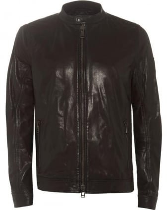Gransden Jacket Black Polished Lambskin Leather Jacket