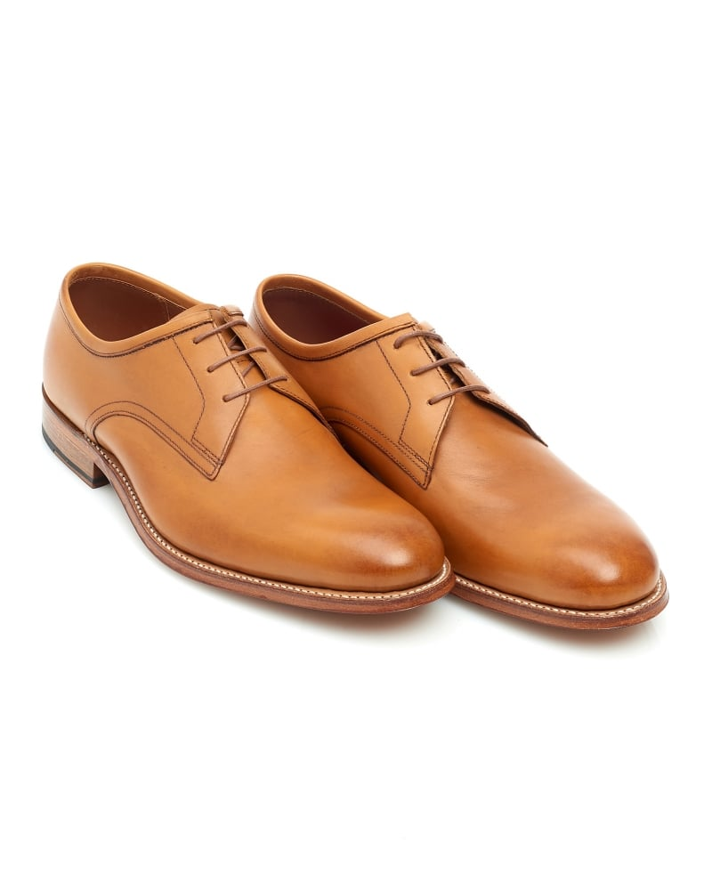 Grenson Shoes Mens Leighton Tan Leather Lace Up Derby 86c75a9c5f94