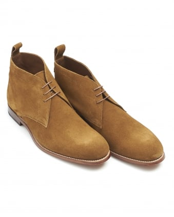 Mens Marcus Boot, Snuff Tobacco Suede Chukka Boot