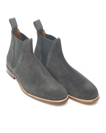 Mens Nolan Boot, Slip On Grey Lavagne Chelsea Boot
