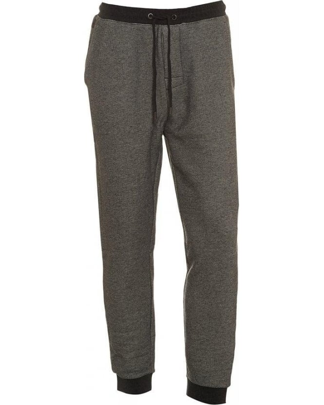 Hugo Boss Black Grey Anthracite Long Pant Cuffs Tracksuit Bottoms