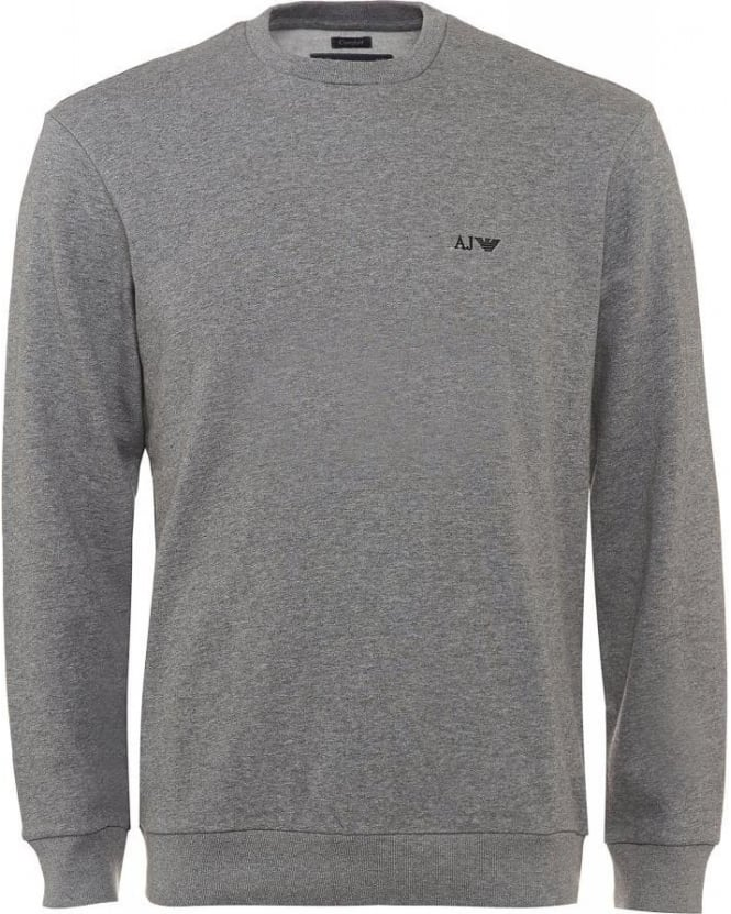 Armani Jeans Grey Basic Comfort Fit Sweatshirt
