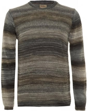 Grey Dale Printed Yarn Sweater