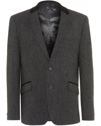 Grey Fine Herringbone Trend Jacket