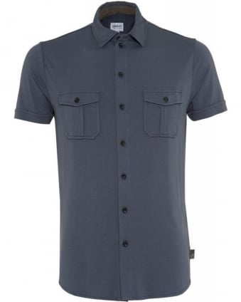 Grey Jersey Slim Fit Shirt