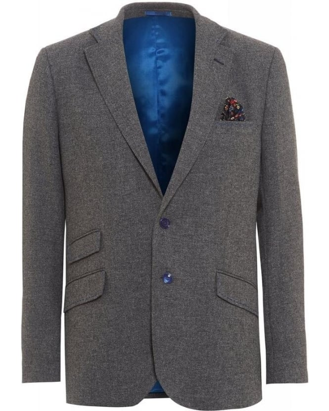 Holland Esquire Grey Lambswool Regular Jacket