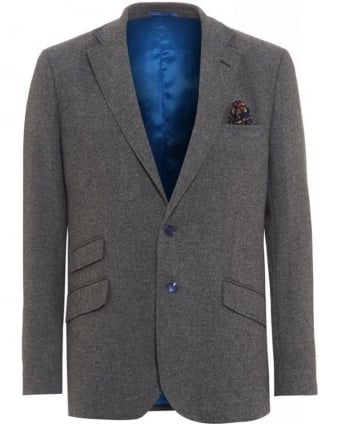 Grey Lambswool Regular Jacket