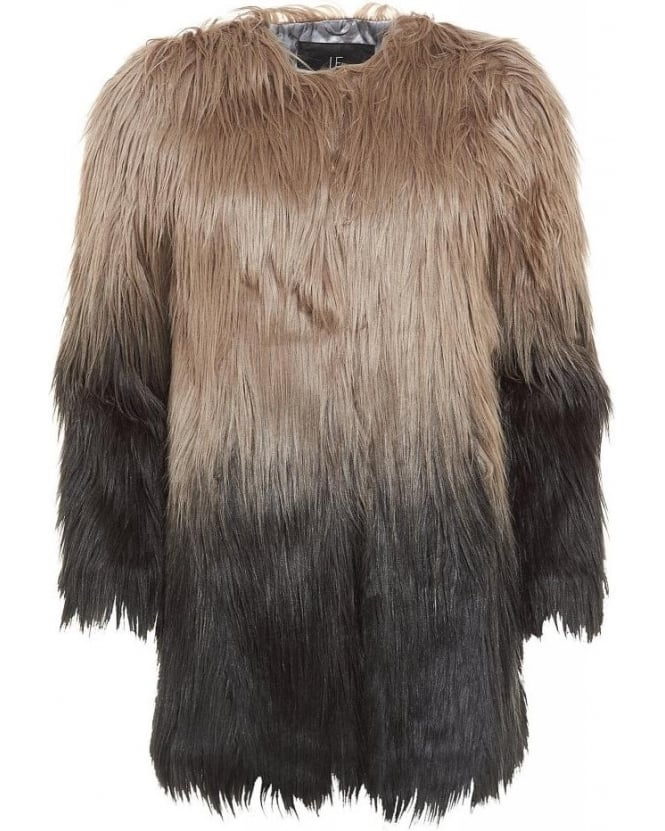 Unreal Fur Grey Ombre Faux Wanderlust Coat