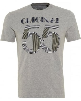 Grey 'Original 55' Print Modern Fit T-Shirt