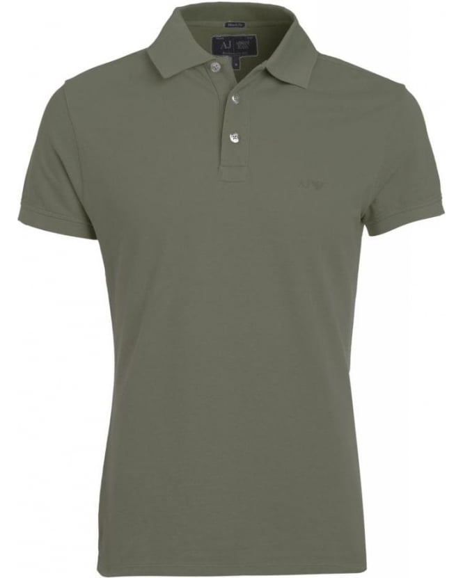 Armani Jeans Grey Polo Shirt Muscle Fit Polo