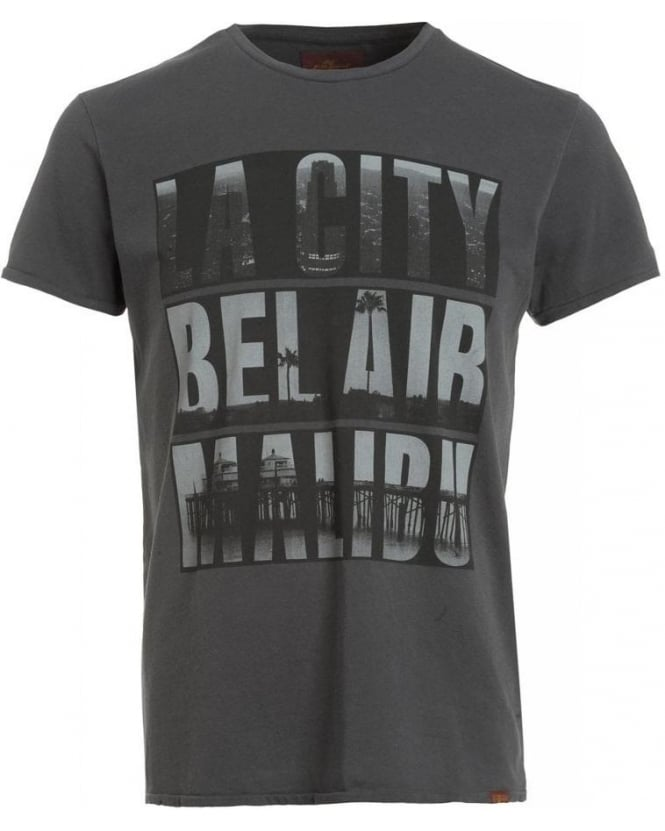 For All Mankind Grey Regular Fit Bel Air Malibu T-Shirt