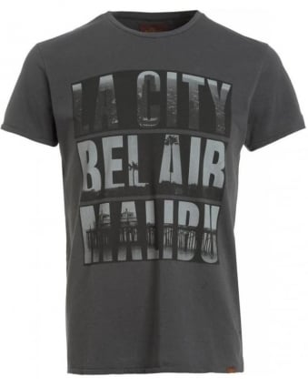 Grey Regular Fit Bel Air Malibu T-Shirt