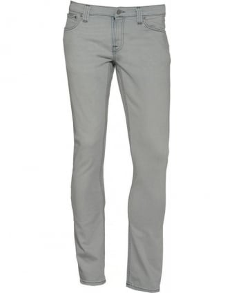Grey Tight Long John Stretch Jeans