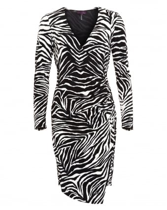 Womens Dress, Wild Emy Zebra Print Dress