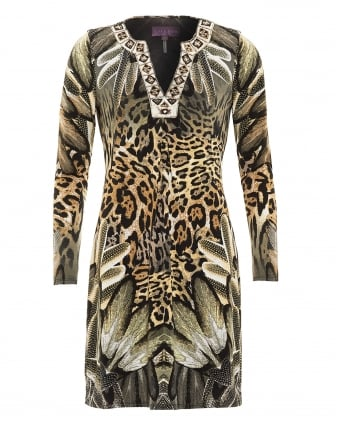 Womens Dress, Yetty Wild Leopard Print Dress