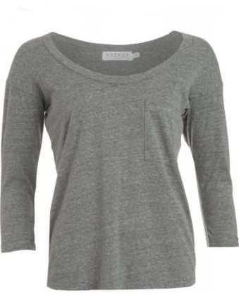 Heather Grey Danee Pocket T-Shirt