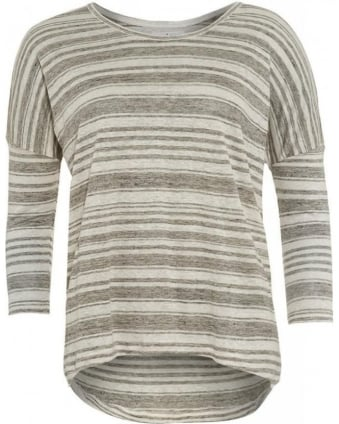 Heather Grey 'Helena 03' Striped Top