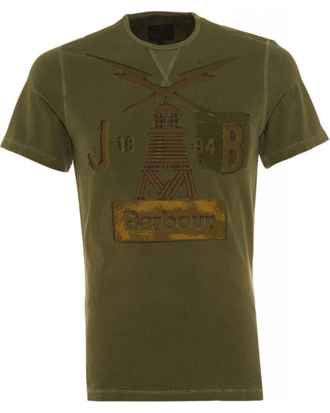 Barbour Heritage Green Beacon Lighthouse Regular Fit Marsden T-shirt