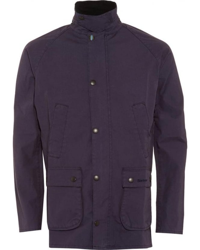 Barbour Heritage Mens Jacket Washed Slim Bedale Navy Jacket