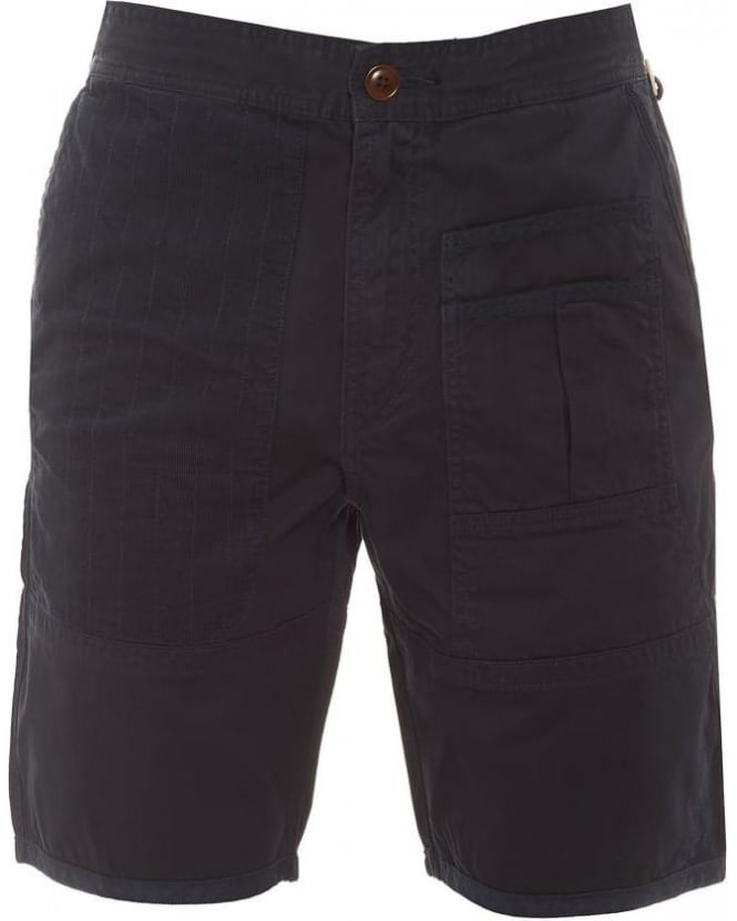 Barbour Heritage Mens Shorts Wataka Pocket Slim Navy Short