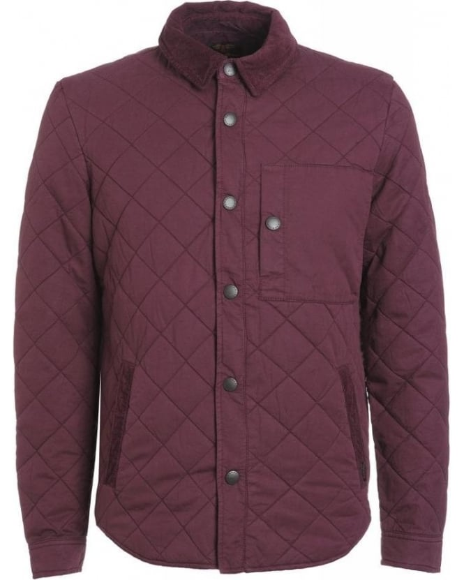 Barbour Heritage, Merlot 'Fallow' Quilted Overshirt Jacket