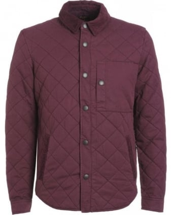Heritage, Merlot 'Fallow' Quilted Overshirt Jacket