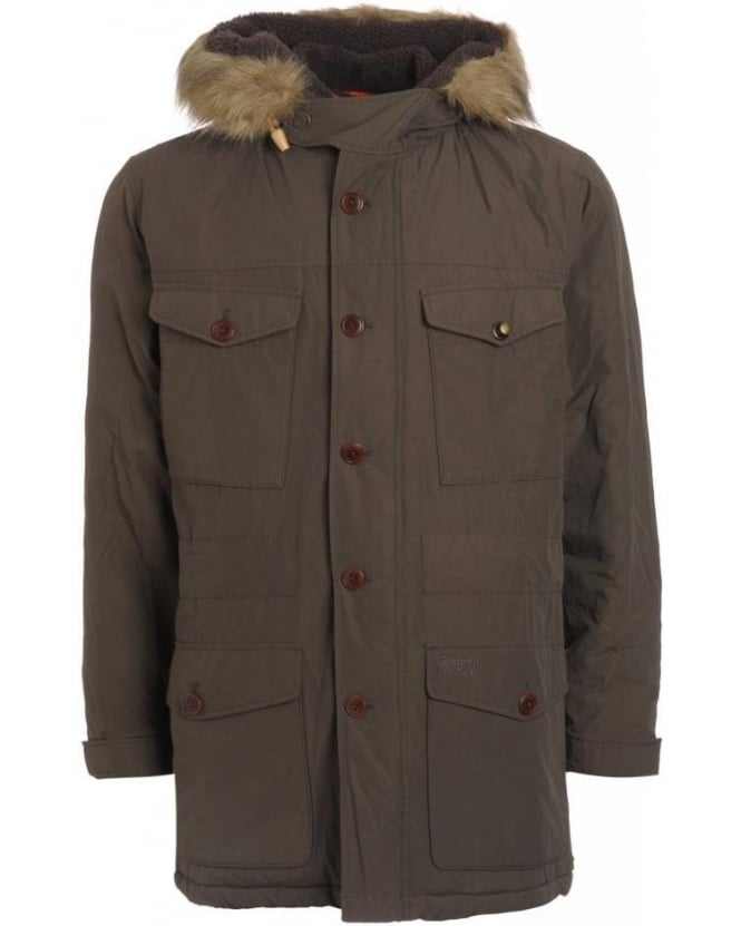 Barbour Heritage, Olive 'Propulsion' Fur Trim Dept B Parka