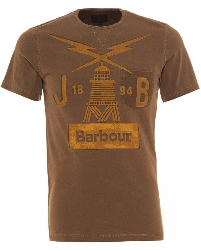 Barbour Heritage Sand Beacon Lighthouse Regular Fit Marsden T-shirt