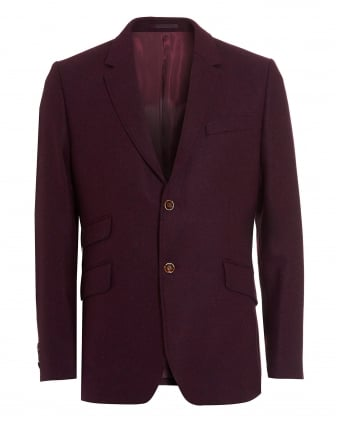 Mens Blazer, Shetland Check Arm Plum Jacket