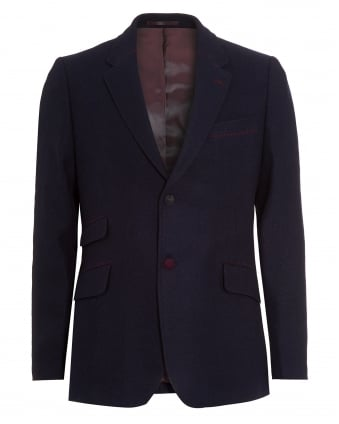 Mens Blazer, Shetland Tweed Navy Blue Regular Jacket