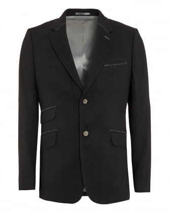 Mens Reginald Jacket, Anthracite Grey Blazer