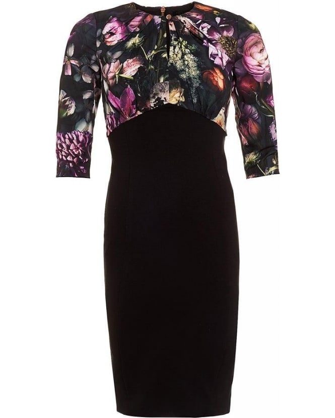 Ted Baker Hounest Shadow Floral Gathered Dress