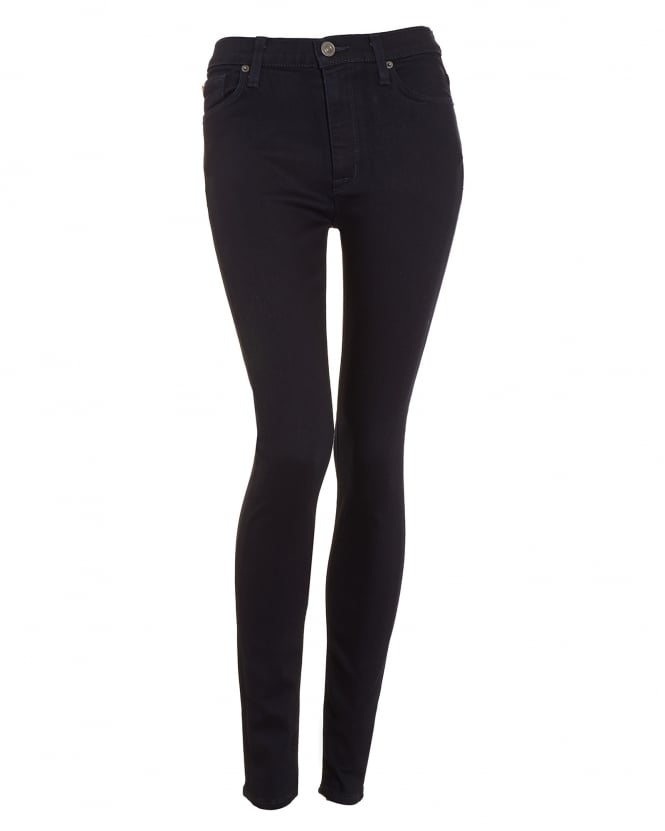 Hudson Jeans Womens Barbara High-Waisted Blue Black Skinny Jean