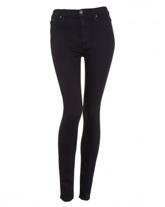 Womens Barbara High-Waisted Blue Black Skinny Jean