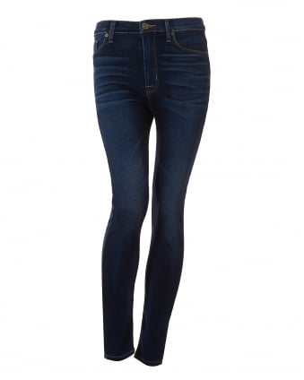 Womens Barbara Jeans, Mid Dark Wash Denim